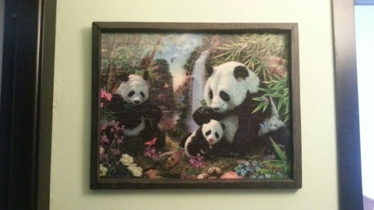 My mother solved the puzzle and I made the frame from cardboard. Team work! :)