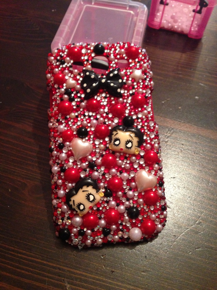 Betty boo Swarovski crystallised cases. £25 can be made on most phone cases Www.sparklesbysam.co.uk  Xxx