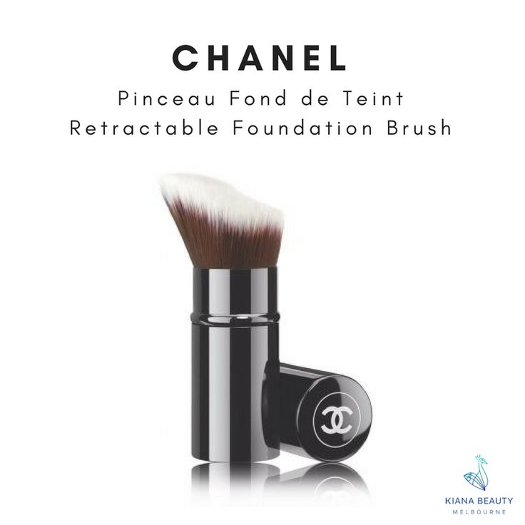 CHANEL Pinceau Fond de Teint Retractable Foundation Brush Easily apply fluid, gel or cream foundations with this retractable brush, perfect for travelling or on-the-go. Buy online CHANEL makeup brushes from Australian stockist with FREE SHIPPING over $50, Afterpay available.