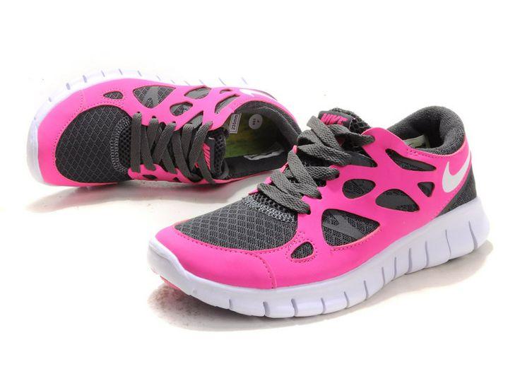 Smoke Sail Pink Flash Nike Free Run 2 Women's Running Shoes #Pink #Womens #