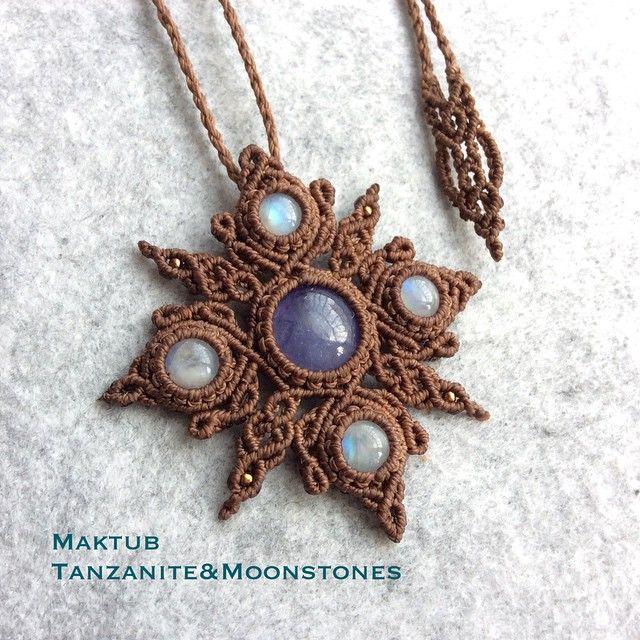 tanzanite and moonstones