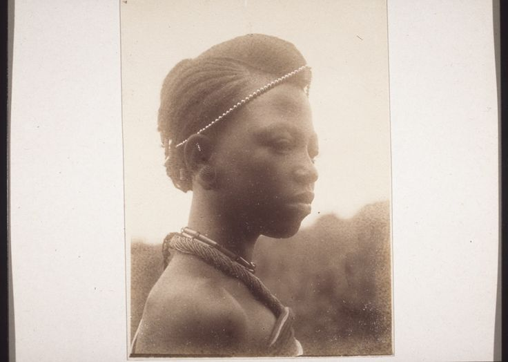 """Mamunon, a daughter of the King.""  Details    ID#	 impa-m28731  Source	 QE-30.006.0091   E-30.30.049   Part of	 Historical Photographs from the Basel Mission   ""Cameroon. Grasslands. Bamum. 1. Brothers and sons of the King. 2. Sisters and daughters of the King. 3. Ngutane, Njoya's oldest daughter, 4. Wives of the King.""   mission 21 / Basel Mission   Creator	 Wuhrmann, Anna (Ms)"