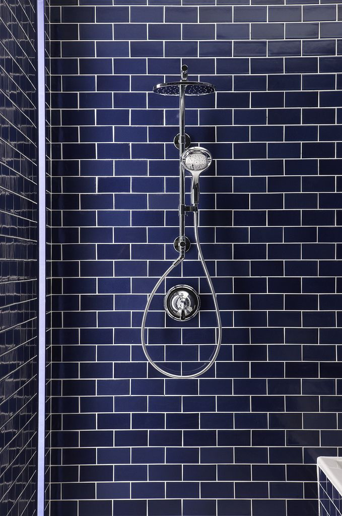 Navy Subway Tiles Are So Polished U0026 Chic!