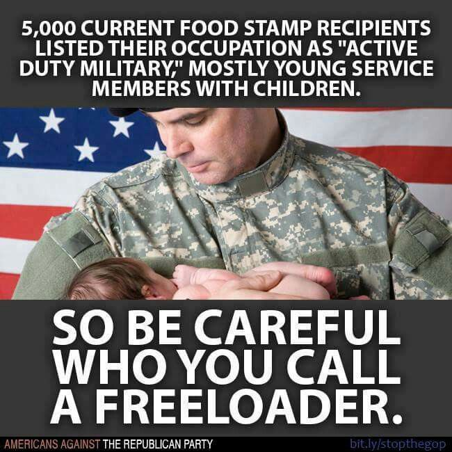 Why do Republicans block better pay and benefits for people in the military? And why do people in the military overwhelmingly vote for Republicans?