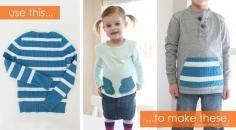 DIY Tutorial DIY SWEATERS / DIY Basket Weaving Old Tshirts - Bead&Cord