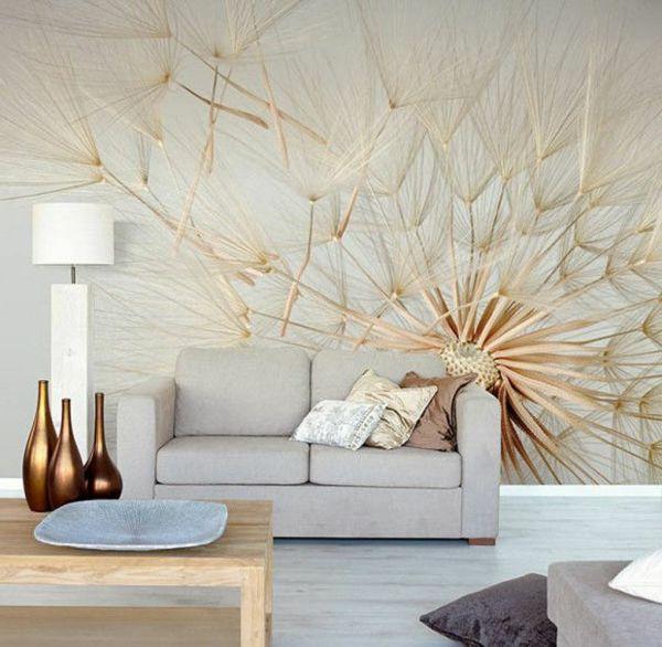 Ausgefallene Tapeten Wohnzimmer Wandgestaltung