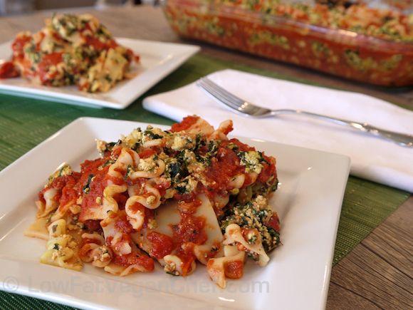 (Low Fat Vegan) Easy Mini Lasagna Casserole — Low Fat Vegan Chef Recipes