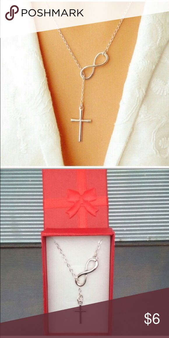 ‼️FREE WITH ANY PURCHASE‼️ INFINITY CROSS NECKLACE DAINTY AND ELEGANT!  Silver-Toned Alloy Metal. Adjustable Length!  Great gift for yourself or someone else. ⚠️GIFTBOX AVAILABLE WHILE SUPPLIES LAST⚠️ BOUTIQUE Jewelry Necklaces