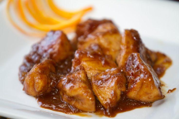 Pollo con Salsa de Naranja Estilo Chino Receta