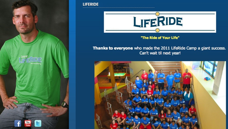 LifeRide website - the camp's mission is to empower youth with the life skills, education, inspiration and hope they need to survive and grow amidst the spectrum of negative influences they face each day.