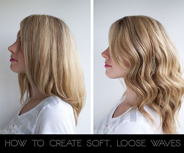 How to create soft loose waves - hair curling tutorial using a 1-1/4 inch barrel ...great tips