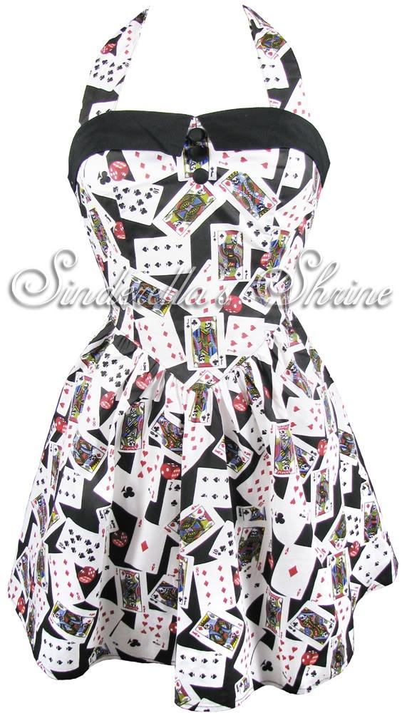 Hell bunny casino cards dress