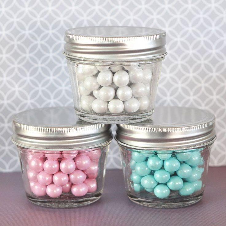 12 Diy Empty Gl Mason Jar Baby Bridal Shower Wedding Favor Containers 4oz