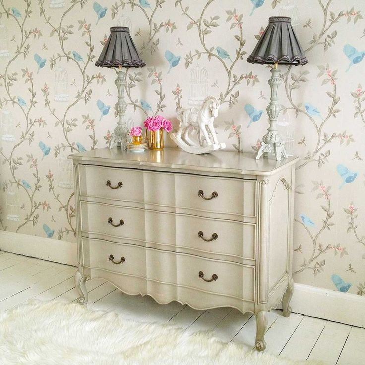 From French Bedroom Company · Made From Carved Mahogany And Hand Finished  In Pale Stone, This French Chest Of Drawers