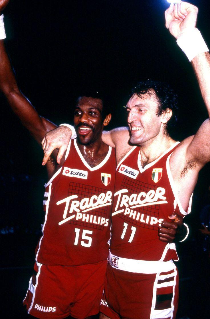 Dino Meneghin e Bob McAdoo - Tracer Olimpia Milano #basket #sport #storia