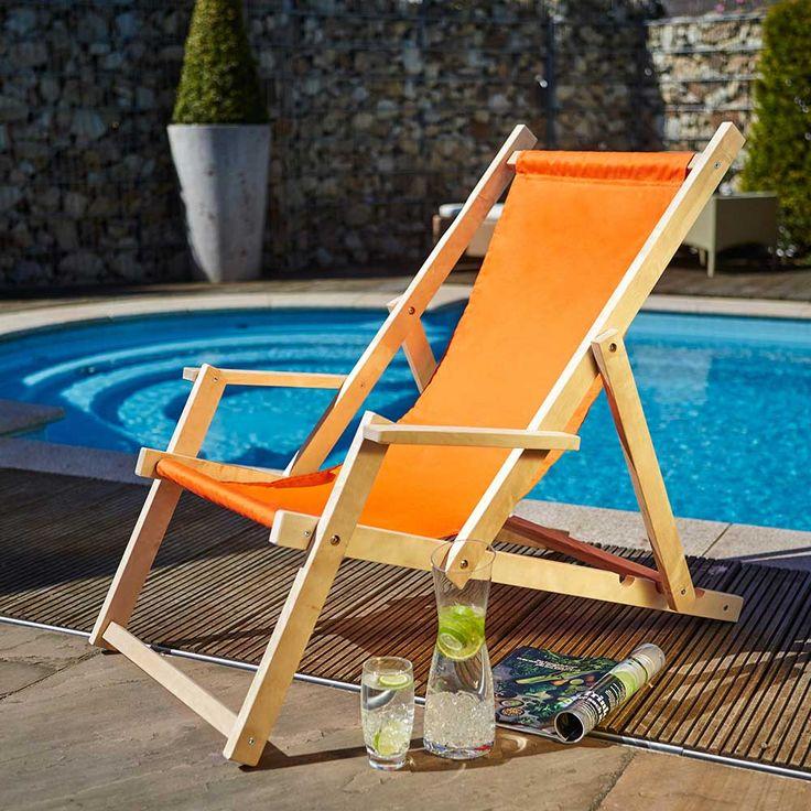 Garten Liegestuhl in Orange Armlehnen Jetzt bestellen unter: https://moebel.ladendirekt.de/garten/gartenmoebel/gartenstuehle/?uid=18d1efea-cee6-5c0f-8ee1-d9def7f88a77&utm_source=pinterest&utm_medium=pin&utm_campaign=boards #gartensessel #outdoor #stühle #garten #sessel #gartenmoebel #gartenstuhl #gartenstuehle