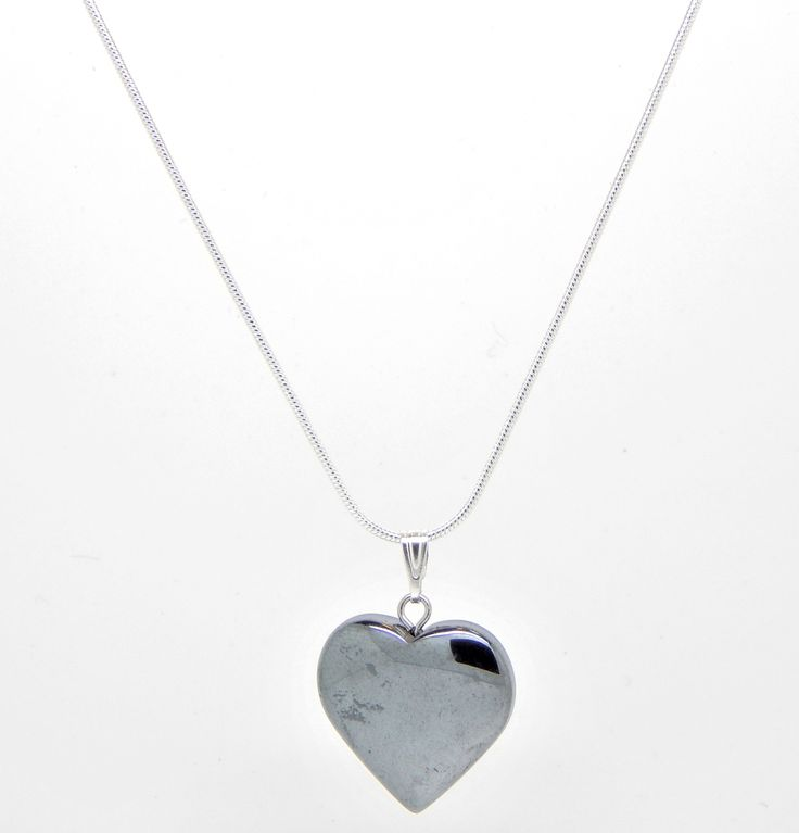 Sterling silver chain with heart pendant $19.99 AUD