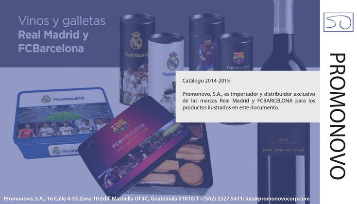 Vinos y Galletas del Real Madrid y FCBarcelona  Productos OFICIALES, 100% Españoles. Galletas del FCBarcelona Galletas del Real Madrid Vinos del FCBarcelona Guatemala
