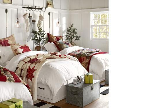 White Duvet With Quilt Over. Lodge BedroomBedroom DécorBedroom ...