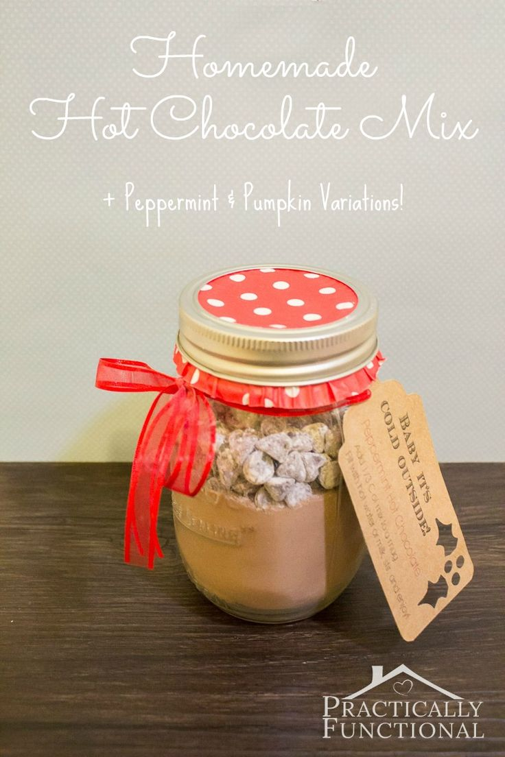 This homemade hot chocolate mix recipe is creamy, delicious, and inexpensive to make! Plus you can easily make variations like peppermint or pumpkin spice!