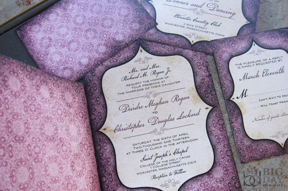 Vintage Goth Pattern and Window Framed Wedding Programs by mybigdaydesigns, $2.75 / Tim Burton