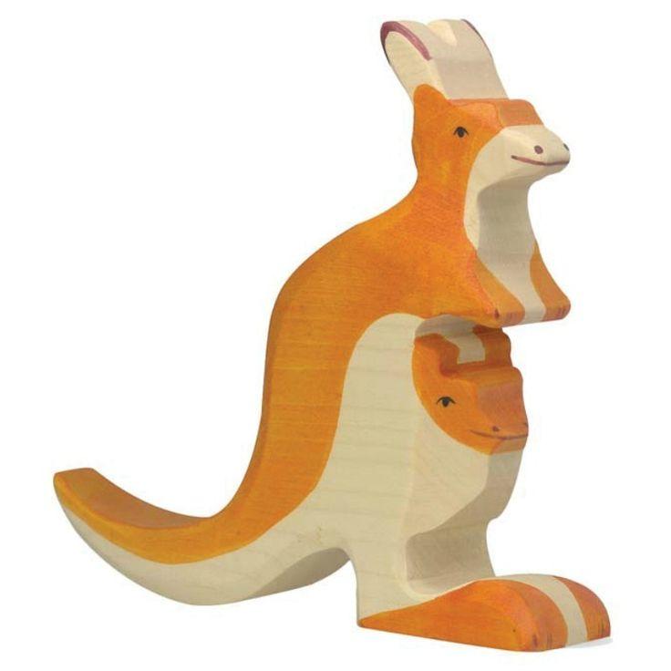 Wooden Kangaroo Holztiger Toy | Worldwide shipping www.minizoo.com.au