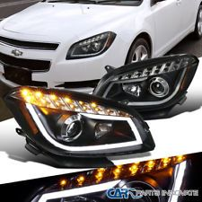 08-12 Chevy Malibu Black Replacement LED Signal Strip Projector Headlights Lamps Was: $433.99 Now: $322.