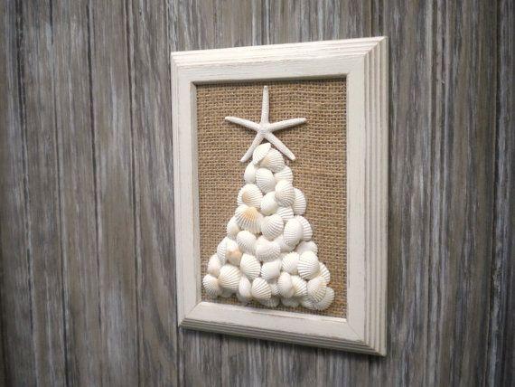 Beach Christmas Wall Art, Beach House Decor, Nautical Christmas, Beach Gift, Bathroom Decor, Christmas Shells, Beach Art on Etsy, $23.67 AUD