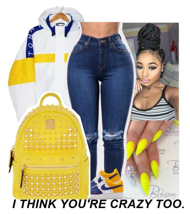 """Contest"" by issaxmonea ❤ liked on Polyvore featuring Tommy Hilfiger and MCM"