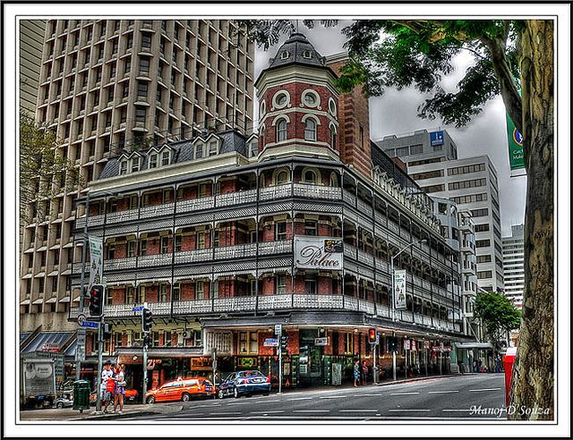"Base Brisbane Backpackers Central - Brisbane, Australia by Manoj D'Souza, via Flickr.Was the Salvation Army's ""People's Palace"" for years-where country people on holidays would stay."