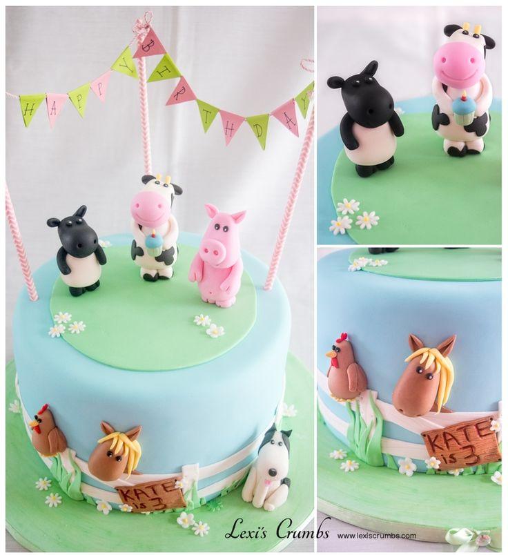 Farmyard cake www.lexiscrumbs.com