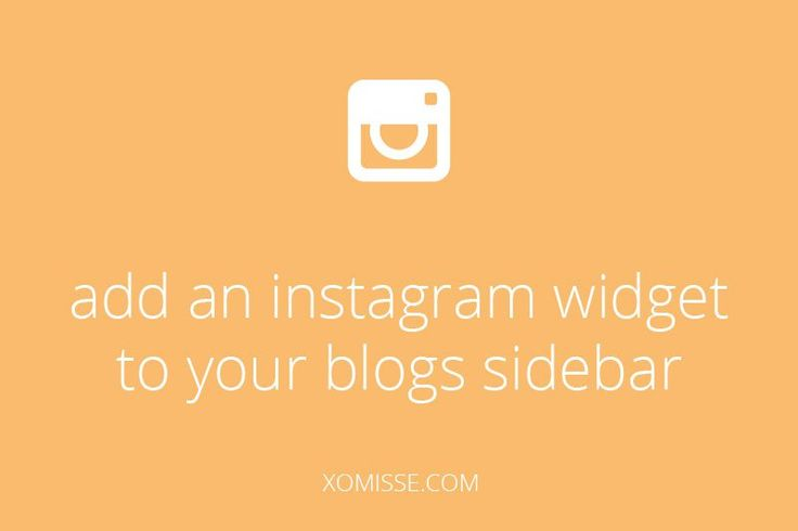 add an instagram widget to your blogs sidebar to show off your instagram photos