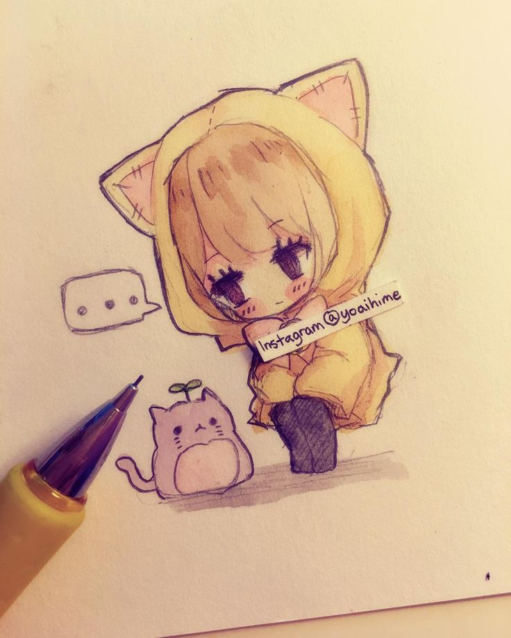 more tiny doodles~ it's a kitty-shaped root vegetable .__. She won't eat it…