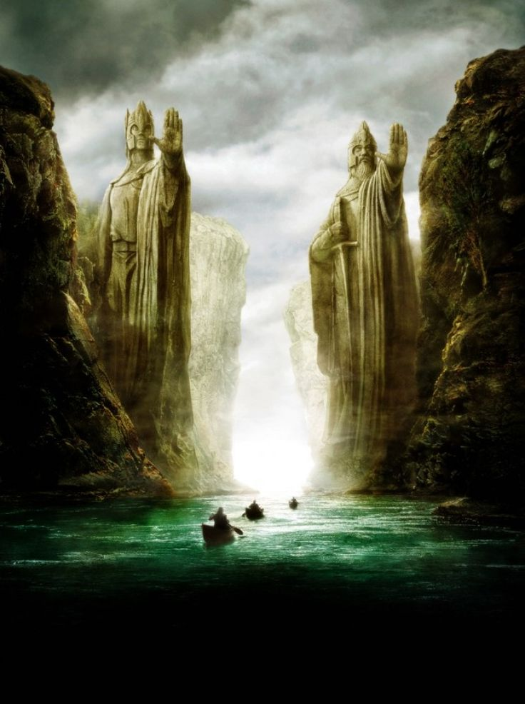 Lord Of The Rings Tarot The Hermit By Sceithailm On: Lord Of The Ring : Argonath On River Anduin