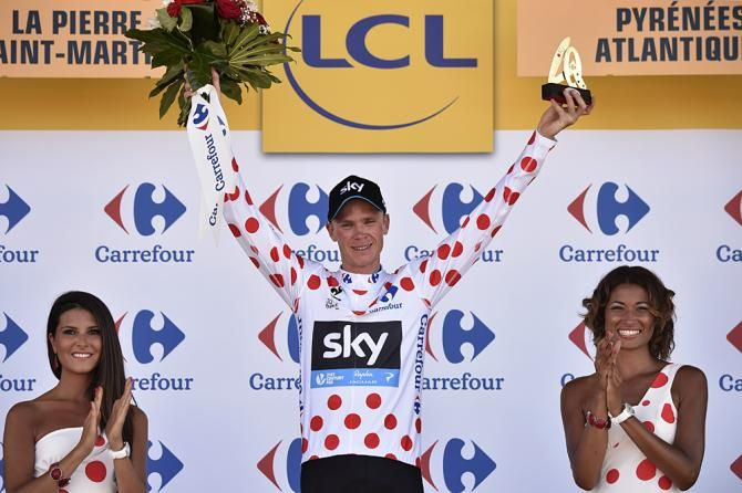 Chris Froome (Team Sky) also leads the mountain competition. Stage 10