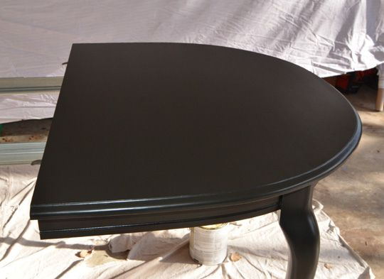 Behr premium plus black suede plus floetrol. Like this black and her directions