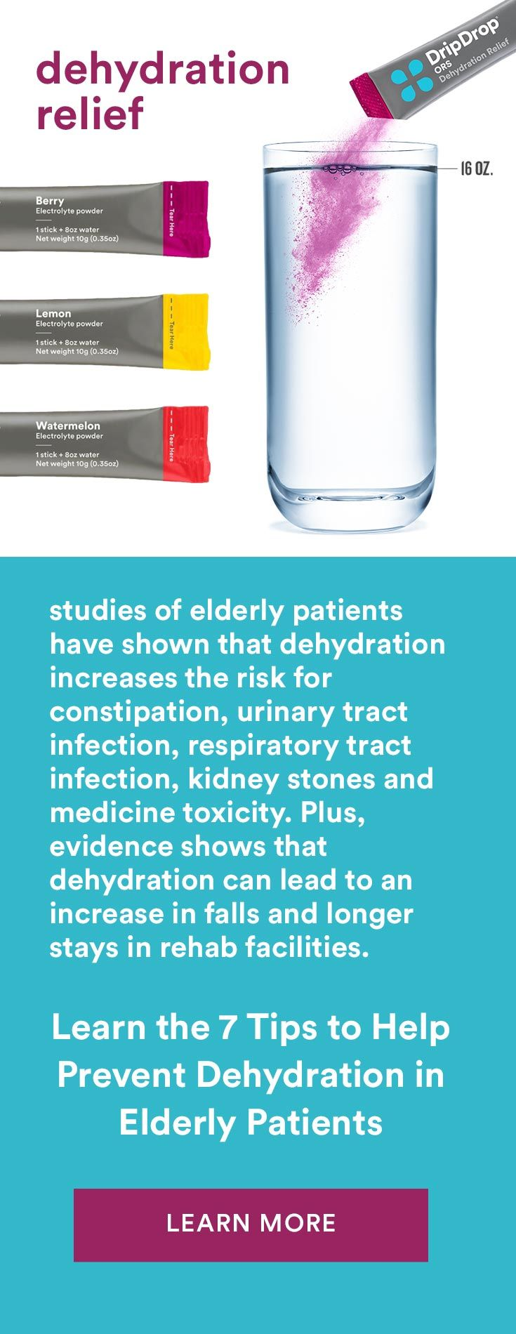 Dehydration relief for seniors and elderly how to get