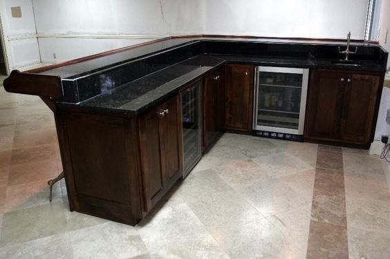 basement bar plans | Basement Bar - Custom Cabinets of ...
