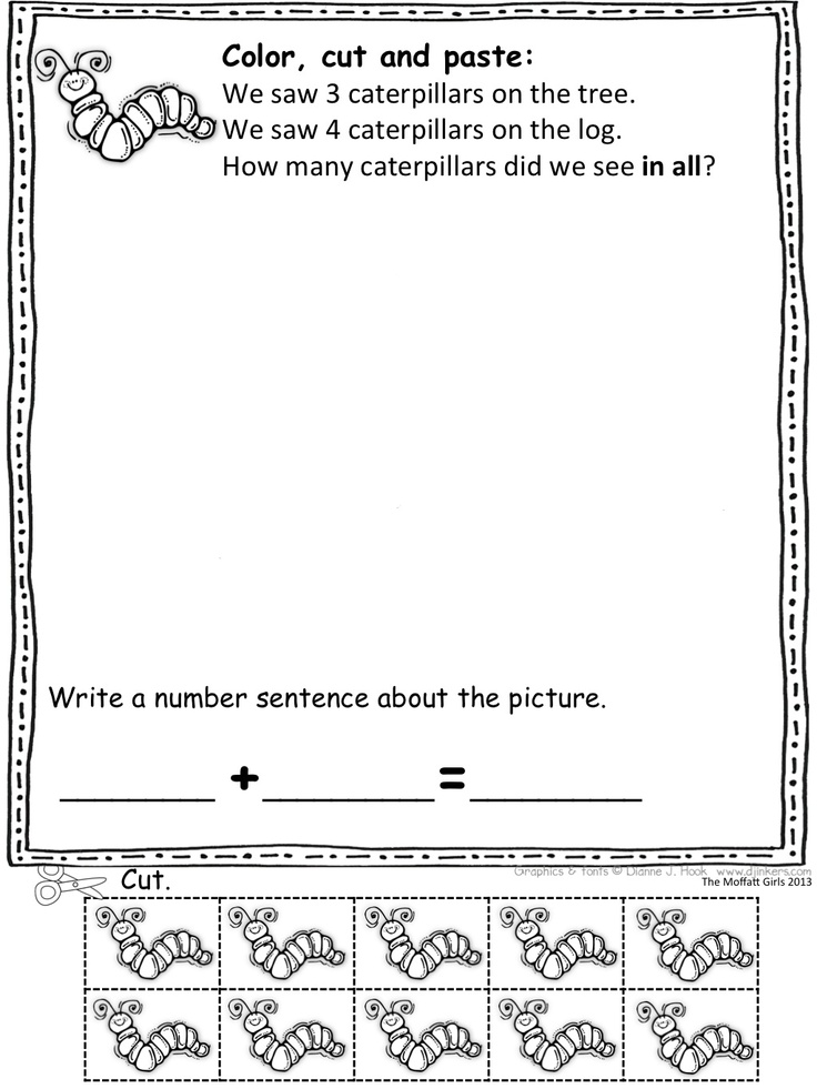 math problems for kindergarten Lots of free math worksheets for kindergarten that you can print, download, or use online.