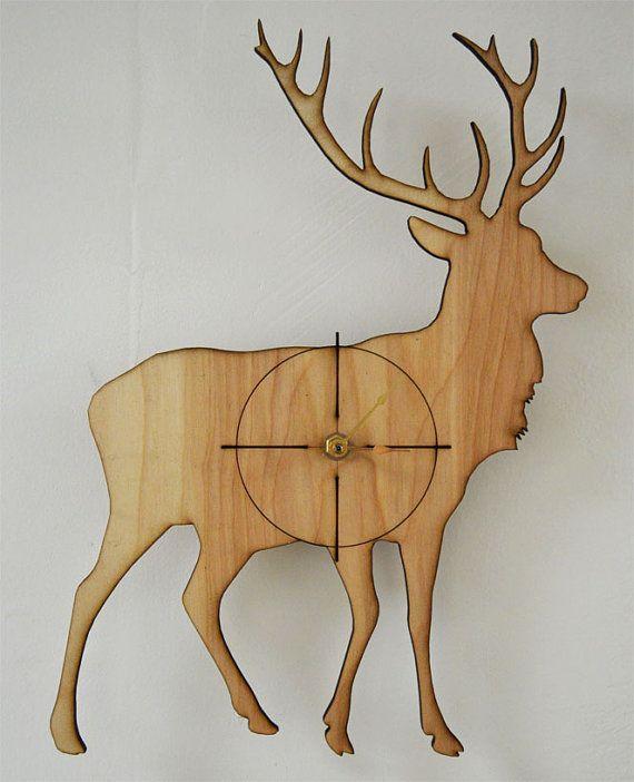 great clock | Moose, Wall Clock, Deer Clock- Great gift for Hunters, Time Clock