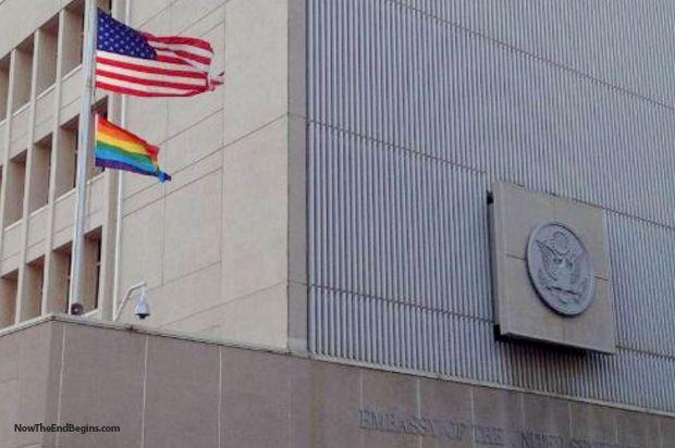 Obama's US Ambassador Raises The LGBT Flag Over US Embassy In Israel - Now The End Begins