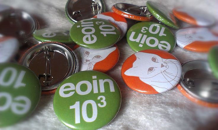 25 mm button badges design, These badges will be used as the content in a kids birthday piñata.  Eoin was born the 10-10-2010. http://quene.wordpress.com/