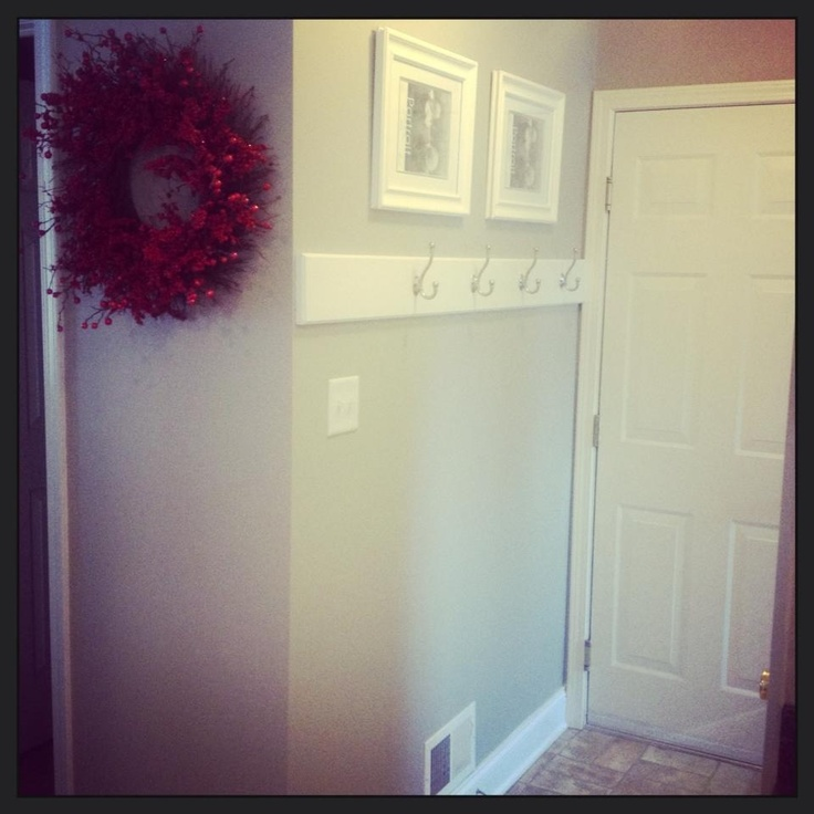 Diy Hallway Wall Decor : Entryway coat hook wall art diy home decor