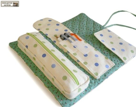 Roll-Veranstalter Nähen Muster/Anleitung, Make-up Tasche Muster, Kosmetik Tasche Muster---PDF