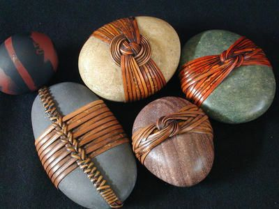lthese are great rocks I may try this I took basket weaving once