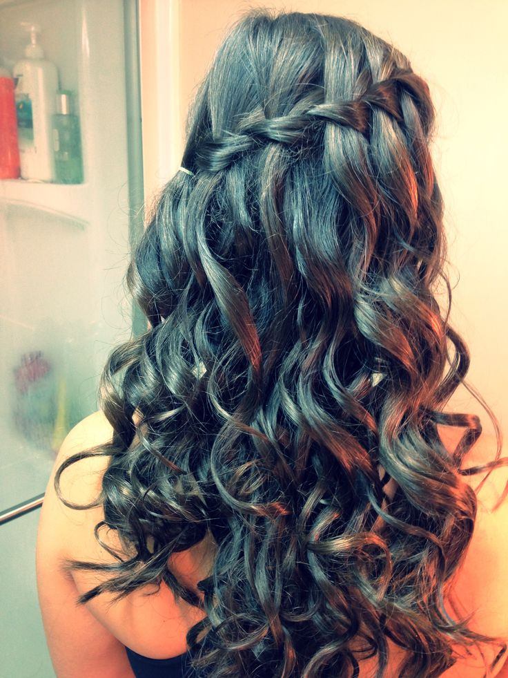 Waterfall Braid With Curls Hair Amp Beauty Pinterest