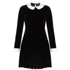 Meadham Kirchhoff Black Velvet Ophelia Dress