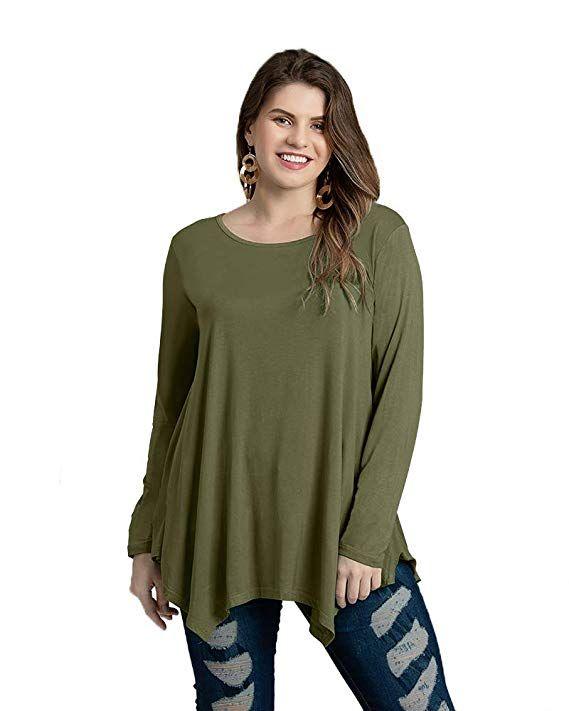 6997829f2e67bf JollieLovin Womens Long Sleeve Tunic Top Loose Plus Size T Shirt Women  Summer Bohemian Style Fashion
