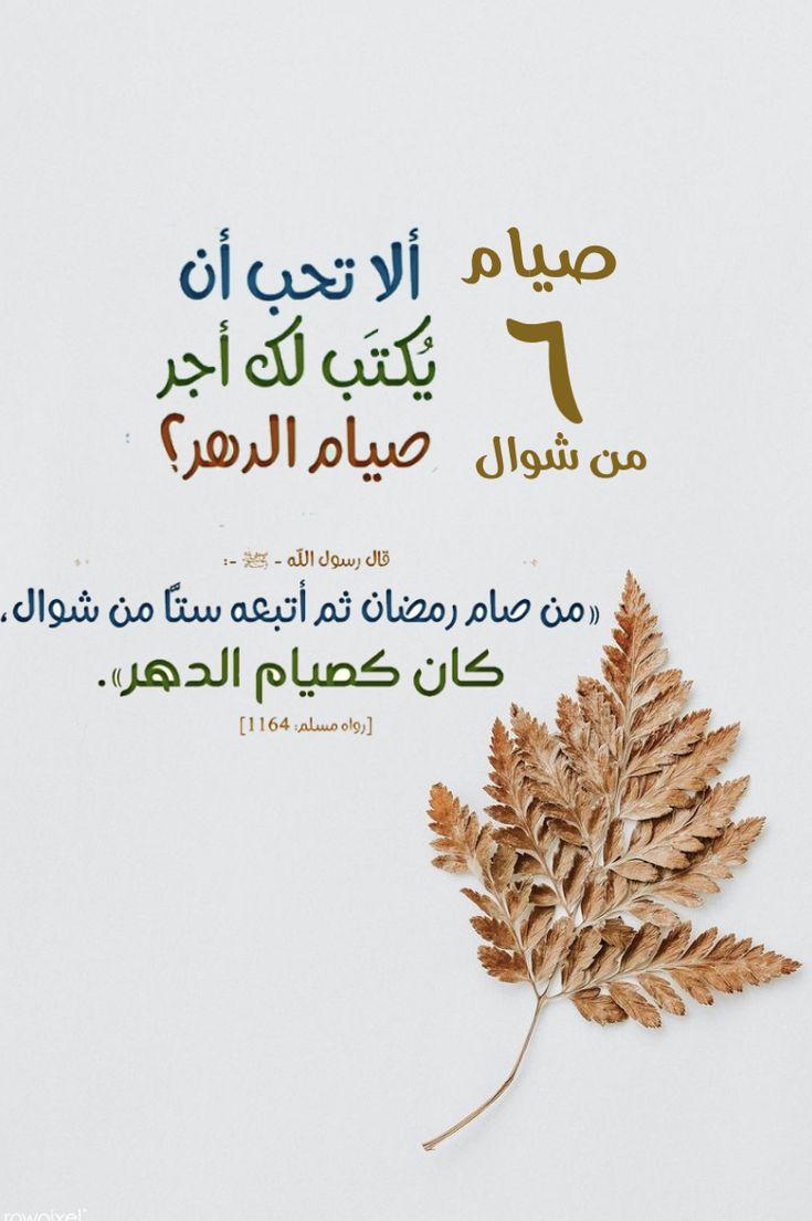صيام ٦ من شوال Arabic Calligraphy Art Calligraphy