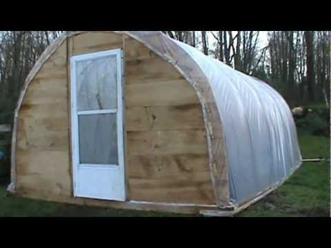 Diy greenhouse video greenhouse pinterest homemade for Build it yourself greenhouse